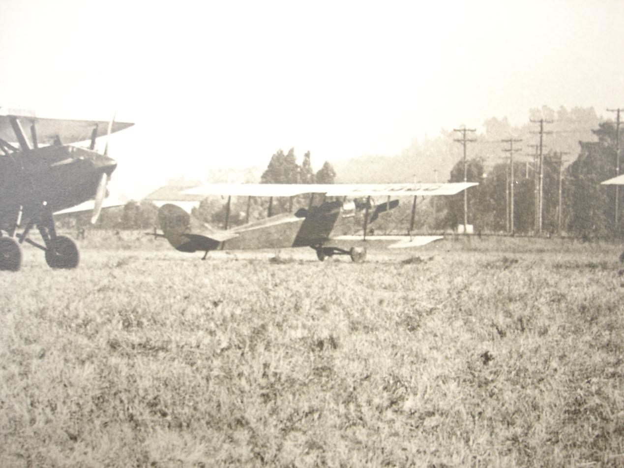 Flight line at San Carlos Airport 1920s