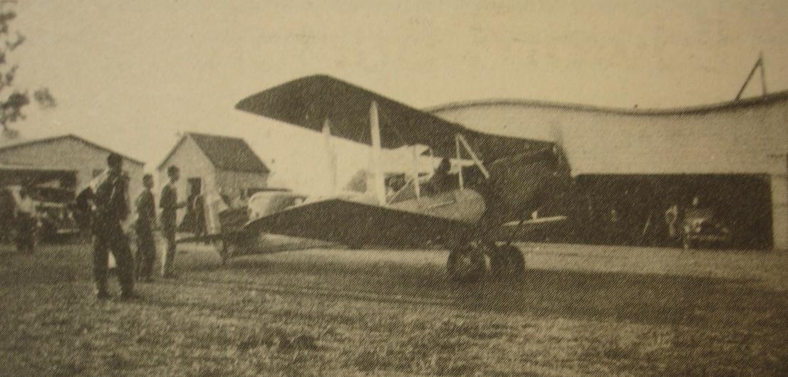 San Carlos Airport plane taxiing 1920s