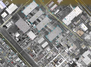 old San Carlos Airport 1948 showing buildings that exist in 2010